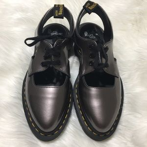 Dr. Martens Shoes - Dr. Martens Genna Cut-Out Metallic Sheen Oxford